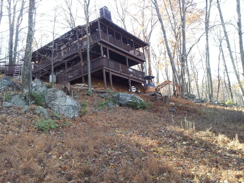Bear Lodge Cabin Back View